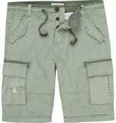 River Island Mens Green pattern bermuda shorts