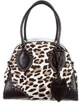 Alaia Lizard-Trimmed Ponyhair Dome Bag