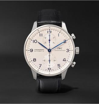 IWC SCHAFFHAUSEN Portugieser Chronograph 41mm Stainless Steel And Alligator Watch, Ref. No. Iw371446
