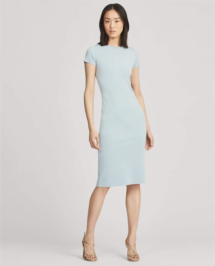 Ralph Lauren Wool Cap-Sleeve Crewneck Dress
