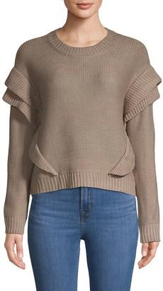 BB Dakota Ruffled Pullover Sweater