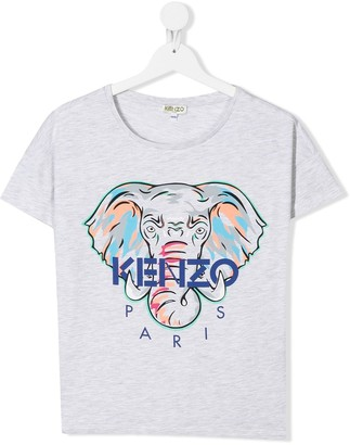 Kenzo TEEN logo embroidered T-shirt