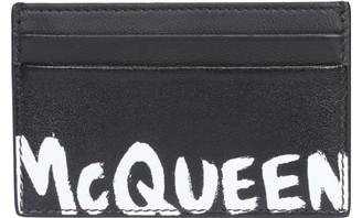 Alexander McQueen Mcqueen Graffiti Cards Holder