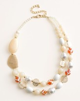 Chico's Chicos Neutral Cream Bib Necklace