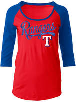 5th & Ocean Women's Texas Rangers Sequin Raglan T-Shirt