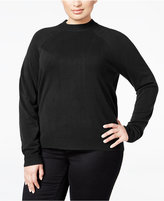 Karen Scott Plus Size Luxsoft Mock-Neck Sweater, Only at Macy's