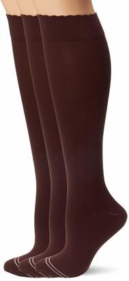 Hue Women's Graduated Compression Knee Socks 3 Pair Pack