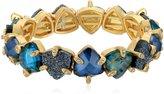 lonna & lilly Gold-Tone and Abalone Stretch Bracelet