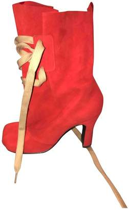 Vivienne Westwood Red Suede Boots