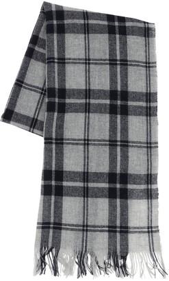 Il Gufo Check Print Cashmere & Wool Scarf
