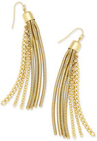 Thalia Sodi Gold-Tone Chain Tassel Earrings, Only at Macy's