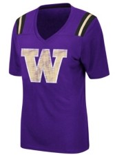 Colosseum Women's Washington Huskies Rock Paper Scissors T-Shirt