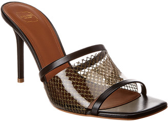 Malone Souliers Laney 85 Leather & Pvc Sandal