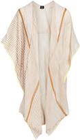 Lvs Collections LVS Collections Women's Kimono Cardigans KHAKI - Khaki & White Stripe Kimono - Women