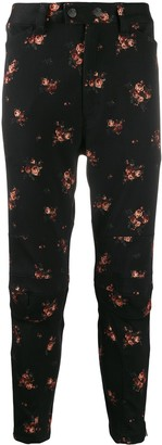 Ann Demeulemeester Floral Print Skinny Trousers