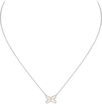 Chaumet Jeux de Liens mother of pearl and diamond pendant necklace