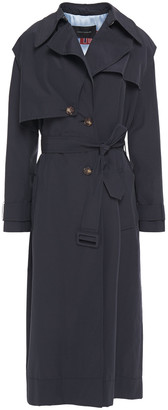 Cédric Charlier Belted Cotton-blend Shell Trench Coat