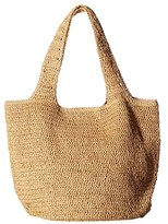Hat Attack Straw Carryall (Toast) Bags