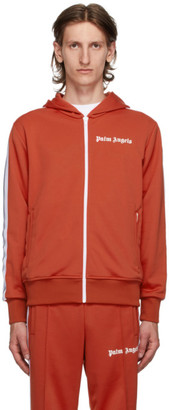 Palm Angels Red Hooded Classic Track Jacket