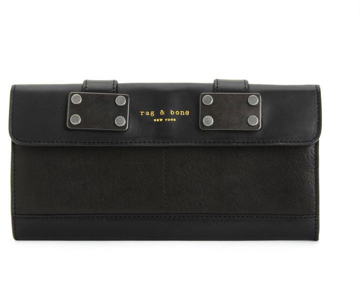Rag and Bone Continental Wallet - Black