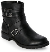 G by Guess Black Hanna Low Heel Biker Boots