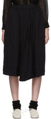 Comme des Garcons Navy Dobby Stripe B Pattern Skirt