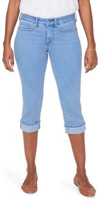 NYDJ Marilyn Fray Hem Cuff Crop Jeans