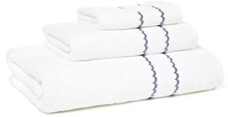 Hamburg House 3-Pc Double Scallop Towel Set - Lilac