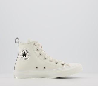 Converse All Star Hi Trainers Egret Egret Leather