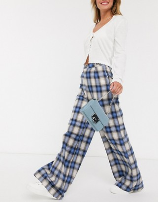 Daisy Street relaxed high waist trousers in vintage check