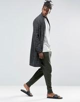 Asos Loungewear Skinny Joggers In Khaki With Double Waistband