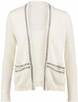 Maje Bead-embellished linen and cotton-blend cardigan