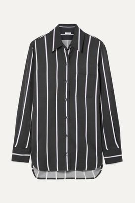 Equipment Bradner Striped Twill Shirt - Black