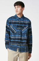 Obey Patterson Plaid Flannel Long Sleeve Button Up Shirt