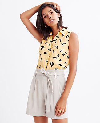 Ann Taylor Floral Sleeveless Essential Shirt