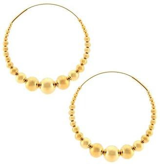 Gas Bijoux Beaded Hoop Earrings