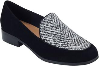 evolve Pip8 Woven Apron Toe Loafer Flat