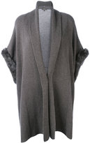 N.Peal cashmere ribbed trim cardi-coat