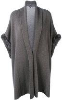N.Peal ribbed trim cardi-coat - women - Rabbit Fur/Cashmere - S