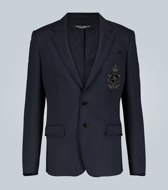 Dolce & Gabbana Embroidered jersey blazer with logo