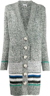 See by Chloe Striped Long Cardi-Coat