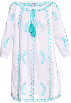 Juliet Dunn Hand-embroidered cotton beach dress