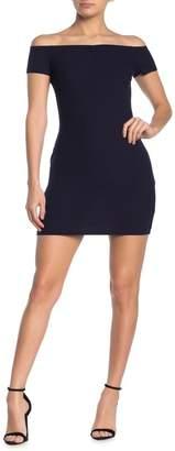 Double Zero Off The Shoulder Bodycon Mini Dress