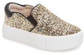 Ash Toddler Girl's Lynn Glitter Platform Slip-On Sneaker