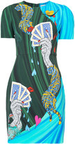 Mary Katrantzou card print T-shirt dress - women - Silk/Spandex/Elastane/Viscose - 8