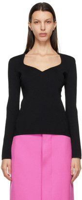 Balenciaga Black Heart Neck Sweater