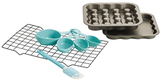 "9"" Fillable Square Cake Pan and Tools Set (8 PC)"