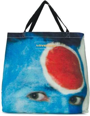 Charles Jeffrey Loverboy Face Print Tote Bag