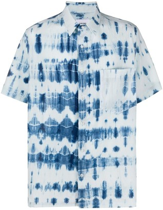 Nanushka Adam tie-dye short-sleeve shirt