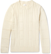 Gant Cable-Knit Wool and Cotton-Blend Sweater